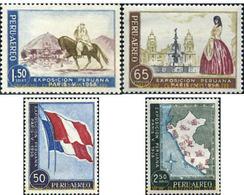 Ref. 631680 * HINGED * - PERU. 1958. PERUVIAN EXHIBITION OF PARIS. . EXPOSICION PERUANA DE PARIS. - Flags