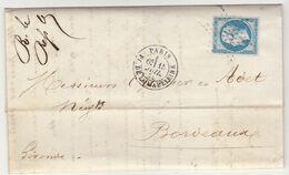 LAC Buiroz & Cie N°22 O. étoile 3 Cad Paris Pl. De La Madeleine 1865 - 1849-1876: Classic Period