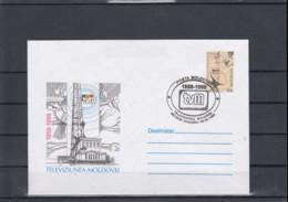 Moldawien Michel Cat.No. Postal Stat Envelop U123 Cto - Moldavia
