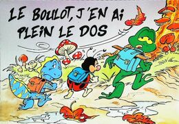 Illustration  Boogy   Ecole Cartable Champignon 1991 Le Boulot Plein Le Dos - Non Classificati