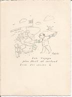 Carte Voeux Air France. Vsevolov De Martinoff . Air France Zürich Suisse. Illustration De Fabres. Avion - Ohne Zuordnung
