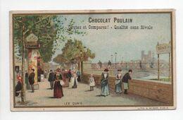 - CHROMO CHOCOLAT POULAIN - LES QUAIS - - Poulain