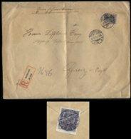 S6064 - DR 40 Pfg Germania Auf Firmen R - Briefumschlag Mit Vignette: Gebraucht Bacharach - Greiz 1910 ,Bedarfserhaltu - Germany