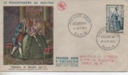 195 3     CELIMENE  TIMBRE N° YVRT ET TELLIER  956 - 1950-1959