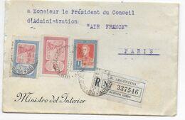 1934 - ARGENTINE - ENVELOPPE RECOMMANDEE Du MINISTRE De L'INTERIEUR à BUENOS AIRES => PARIS AIR FRANCE - Covers & Documents