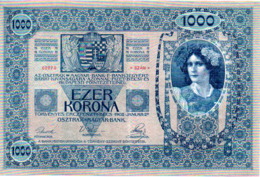BILLET  TAUSEND KRONEN  2 JANVIER 1902      VOIR LES SCANS - Austria