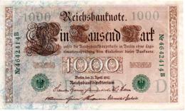 BILLET  1000 MARK  21 AVRIL 1910       VOIR LES SCANS - 1000 Mark