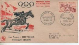 195 3       SPORTS HIPPISME    TIMBRE N° YVRT ET TELLIER  965 - 1950-1959
