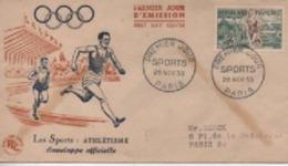 195 3       SPORTS AYHEISME     TIMBRE N° YVRT ET TELLIER  961 - 1950-1959