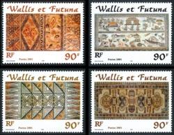 WALLIS ET FUTUNA 2001 - Timbres Issus Du Bloc Yv. BF 10 (4 Val.) ** MNH   - Artisanat : Motifs De Tapas  ..Réf.W&F22941 - Blocks & Sheetlets