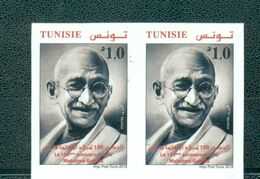 Tunisia 2018- 150 Th Anniversary Of Birth Of Mahatma Ghandi (Pair Non Dentelé) - Mahatma Gandhi