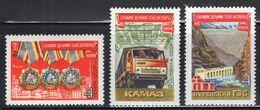 1974 USSR Mi# 4291-93 57 Years Of The October Socialist Revolution. Truck Hpp MNH ** P512 - Nuevos