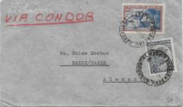 1935 - ARGENTINE - ENVELOPPE Par AVION CONDOR De BUENOS AIRES => HALLE (ALLEMAGNE) - Covers & Documents