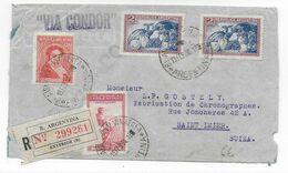 1936 - ARGENTINE - ENVELOPPE RECOMMANDEE Par AVION CONDOR De BUENOS AIRES => ST IMIER (SUISSE) - Covers & Documents