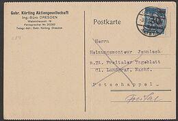 DR Infla MiNr. 284 30 T. Auf 10 M OSt. Dresden-Altst. 1, Gebr. Körting AG - Storia Postale