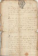 1743 Manuscrit à Découvrir Duché De Brabant Wavre Chez Thiou à Limelette - Manuscripts