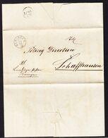 1871 Faltbrief Mit Rundstempel Beringen An Die Polizeitdirektion Schaffhausen. Meldung: Übertretung - ...-1845 Prephilately