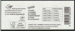 1216A-C3 CARNET MARIANNE DE CIAPPA BLEU EUROPE LOGO - Usage Courant