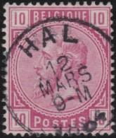 Belgie     .   OBP         .   38     .      O      .     Gebruikt   .   /   .   Oblitéré - 1883 Leopoldo II