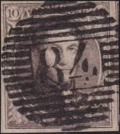 Belgie     .   OBP         .    6    .      O      .     Gebruikt   .   /   .   Oblitéré - 1851-1857 Medallones (6/8)