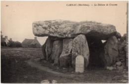 CPA 56 - CARNAC (Morbihan) - 22. Le Dolmen De Crucuno - ND Phot - Carnac