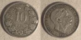 Luxembourg - 10 Centimes 1901 (lx002) - Lussemburgo