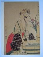Japan Ukiyoe Woodblock Print Kitagawa Utamaro Women's Handiworks: Washing Linge Tokyo National Museum - Tokyo
