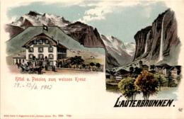 Lauterbrunnen - Hotel U. Pension Zum Weissen Kreuz (7383) * 28. 6. 1903 - BE Berne