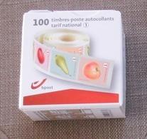 1 Doosje Rolzegels Van 10 X 10 Fruit = 100 X N°1 (kleine Tanding) - Rollen