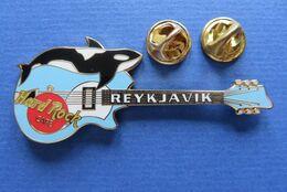 Pin's,HARD ROCK CAFE,REYKJAVIK,GUITARE,ORCA - Animaux