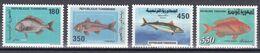 Tr_ Tunesien 1991 - Mi.Nr. 1226 - 1229 - Postfrisch MNH - Tiere Animals Fische Fishes - Fishes