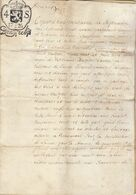 1726 Manuscrit Sur Parchemin Brabant Cour De Lasne Muzette Musette Goffin Beaumont - Manuscripts