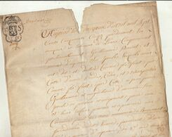 1755 Manuscrit Sur Parchemin Brabant Cour De Lasne Piercot D'agneau Vente à Guilleaume à Beaumont - Manuscripts