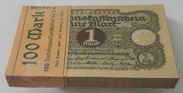 Banknoten, Deutschland, 1 Mark Banknoten, Darlehnskassenschein 1920, 100 Scheine Mit Laufende Seriennummer - 1 Mark