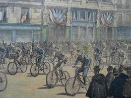 Le Petit Journal 1891 Le Départ De La Course Cycliste Paris Brest En 1891 400 Concurrents/ Mort Du Lieutenant Bujon - 1850 - 1899
