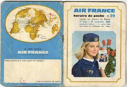1966 HORAIRE AIR FRANCE Départ De PARIS Toutes Destinations 67 Pages - Europe