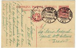 CARTOLINA POSTALE - TIMBRO NATANTE COLICO COMO - 1915 - Vedi Retro - Como