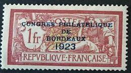 FRANCE - 1923 - YVERT N°182 - Congrès Philatelique De Bordeaux - Etat * Neuf Avec Charnière - Signé - Cote 575E - Nuevos