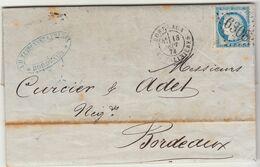 """LAC Tandonnet Frères Compte De Liquidation Du """"Surcouf"""" N°60 GC + T17 Bordeaux 1873 (2 Scans) - 1849-1876: Periodo Classico"""