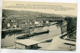 89 SENS Péniches Batellerie Pointe Nord  De L'Ile  écrite 1930 Timb  D11 2017 - Sens