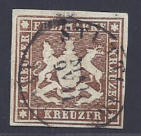 Württemberg  Michel Nummer 6a Gestempelt Geprüft - Wuerttemberg