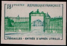 FRANCE   ** 988 988 Essai En Vert: Versailles, Utrillo - Ensayos