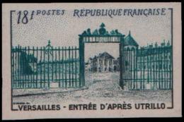 FRANCE   ** 988 988 Essai En Vert Et Noir: Versailles, Utrillo - Ensayos
