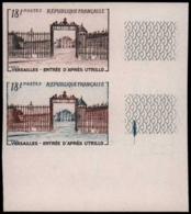 FRANCE   ** 988 988 Paire D'essais En Brun + Polychrome, Cdf: Versailles, Utrillo - Ensayos