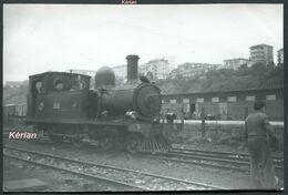 Espagne - Photo - S.B. (Santander A Bilbao) - Locomotora 2-2-0 T - Voir 2 Scans - Treinen