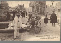 CPA 13 - Marseille - Exposition Coloniale 1922 - Promenade En Pousse Pousse - Non Classés