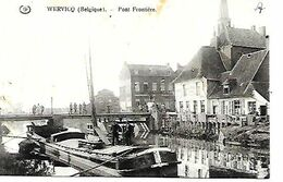 CPA / PK / AK   -  WERVICQ    Pont Frontière  ( Péniche ) - Wervik
