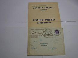 PORDENONE  ---- ANTONIO ZANUSSI  -- FABBRICA CUCINE ECONOMICHE --  LISTINO - Italia