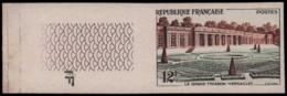 FRANCE   ** 1059 1059 Essai En Bicolore Brun Et Vert, Bdf: Le Grand Trianon - Versailles - Ensayos