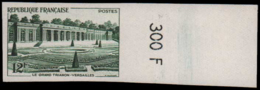 FRANCE   ** 1059 1059 Essai En Vert, Bdf Numéroté: Le Grand Trianon - Versailles - Ensayos